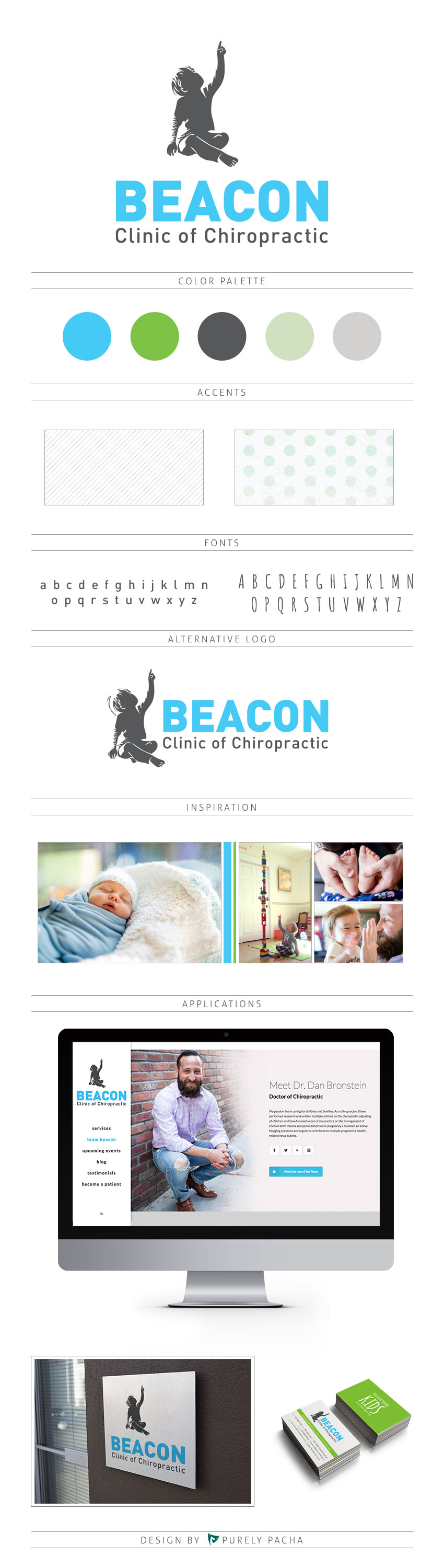 Beacon Chiropractor Logo & Identity by Purely Pacha