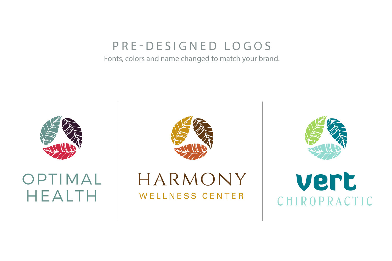 pre-designed logos by purely pacha