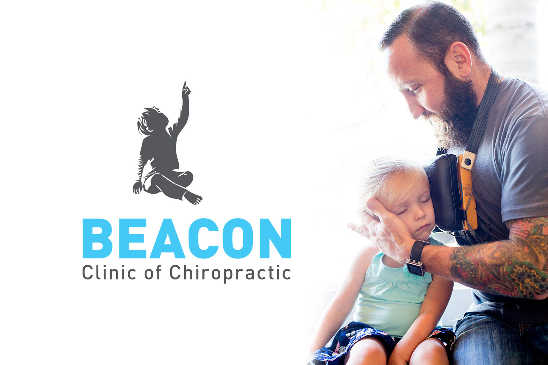 beacon chiropractor logo & identity